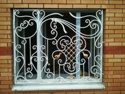 Решётки на окна Киев,  оконные решётки Киев,  кованые и сварные решётки