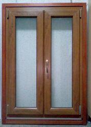 Окно готовое металлопластиковое двухстворчатое 0, 9х1, 3м